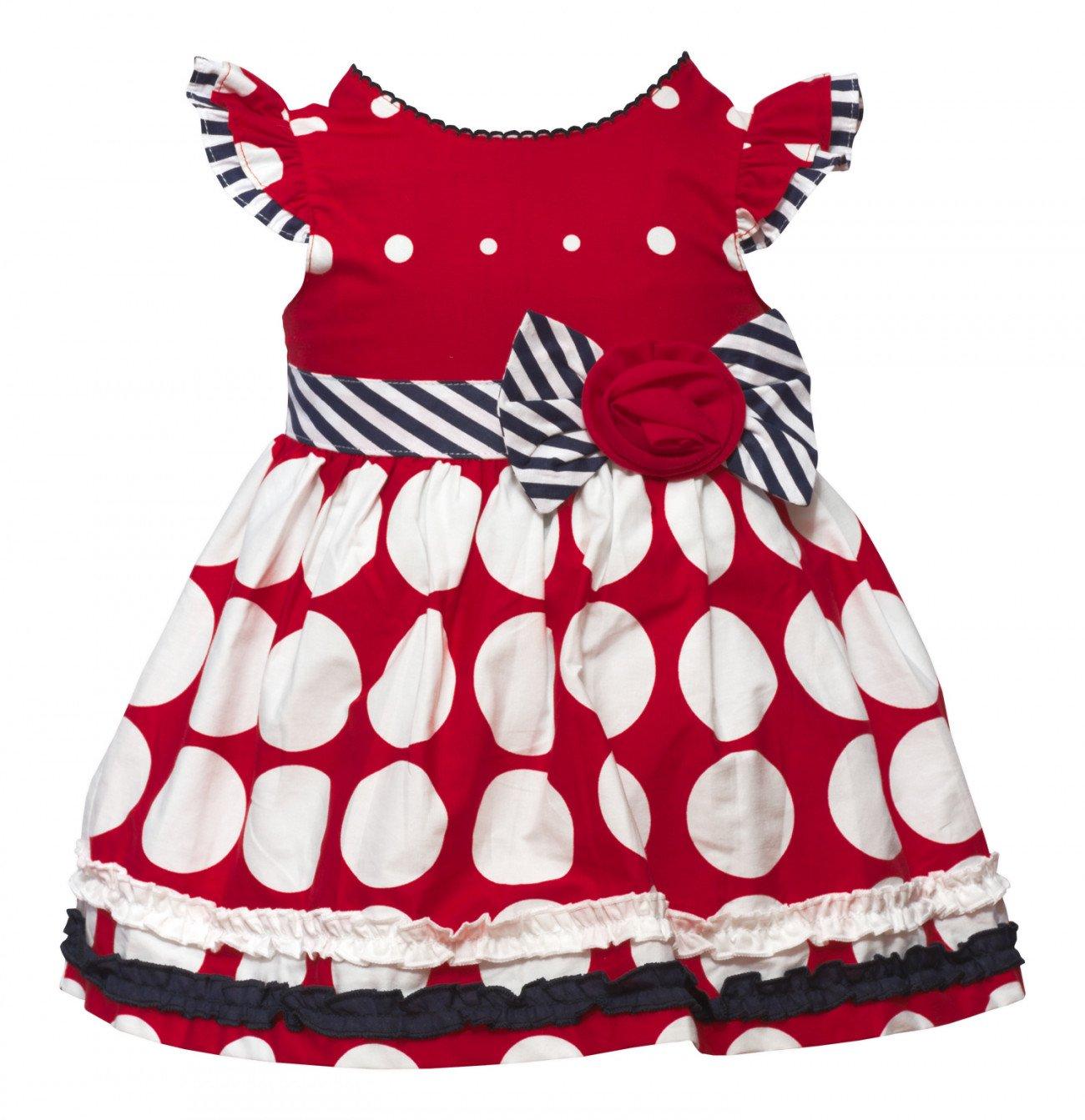 83e2c62f818 Красного цвета платье в белый горох в наборе с трусиками купить ...