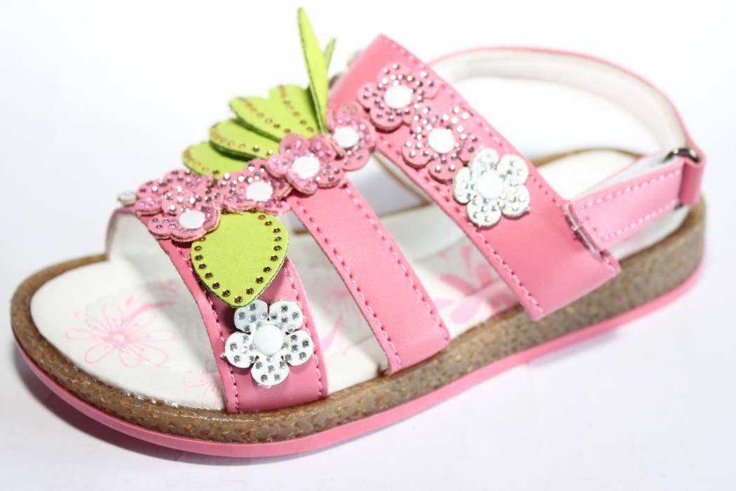 33d9ccf6d Розовые открытые босоножки для модницы купить в интернет магазине ...