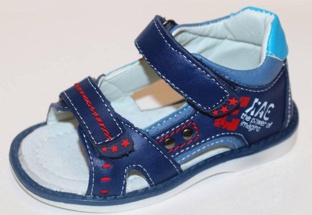 7aa046a85 Темно-синие босоножки с открытыми пальчиками для мальчика купить в ...