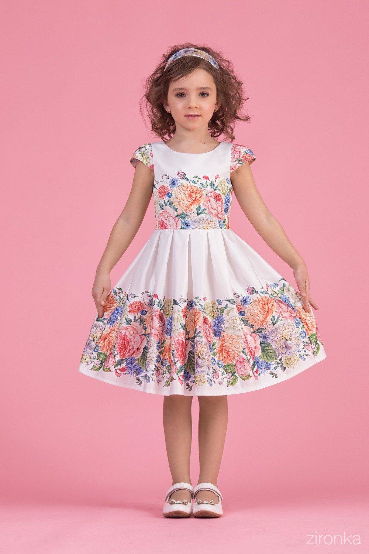 1c0eab9bdd0 Милое кремовое платьице для девочки купить онлайн