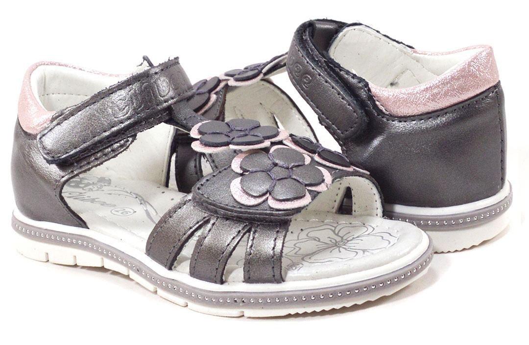 b592586fa Кожаные открытые босоножки для девочки купить в интернет магазине ...