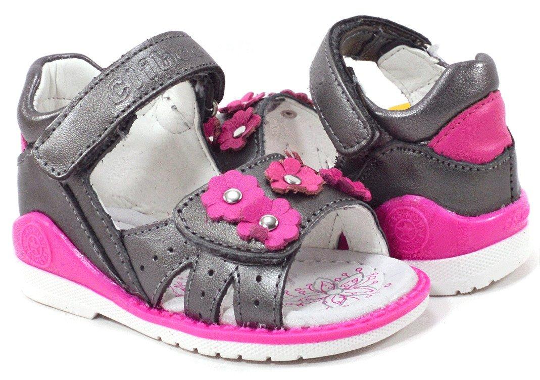 f91c5989a Кожаные открытые сандали с цветочками купить в интернет магазине ...